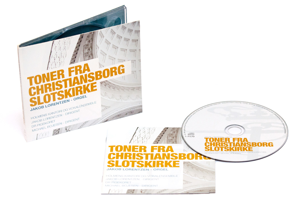 Design af CD-cover for Holmens Kirke