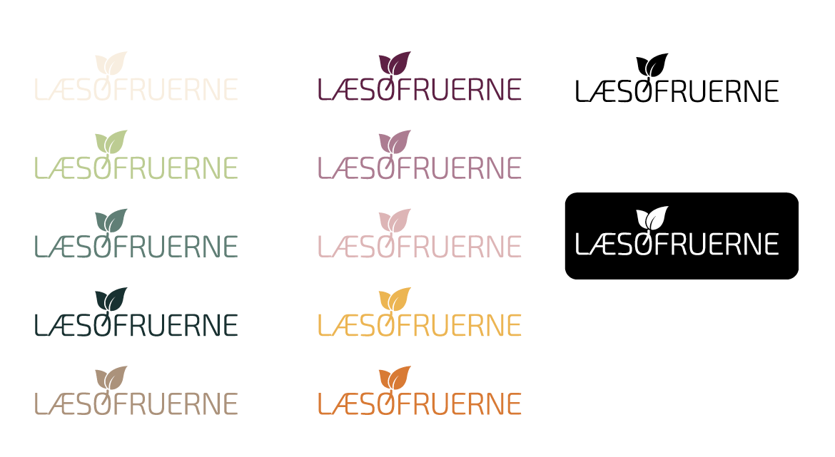 Logo design for Læsøfruerne - farvevariationer
